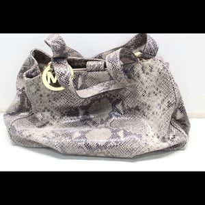 Michael kors snakeskin handbag